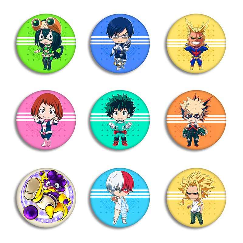 1 Pcs Anime My Hero Academia Cosplay Lencana Kartun No Hero Academia Bros Pin Koleksi Tas Lencana untuk Ransel