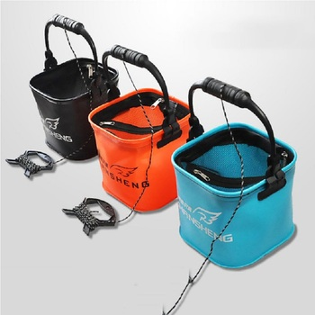3 Color Portable Collapsible EVA Fishing Water Bucket Live Fish Water Storage Tool Fly Carp Fishing Accessories Tackle