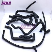 Комплект силиконовых шлангов радиатора для V W Corrado VR6 GOLF MK3 VR6 2,8 92-97(8 шт) красный/синий/черный