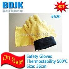 Kevlar 500 Degree High Temperature Safety Gloves Independent Foil Package