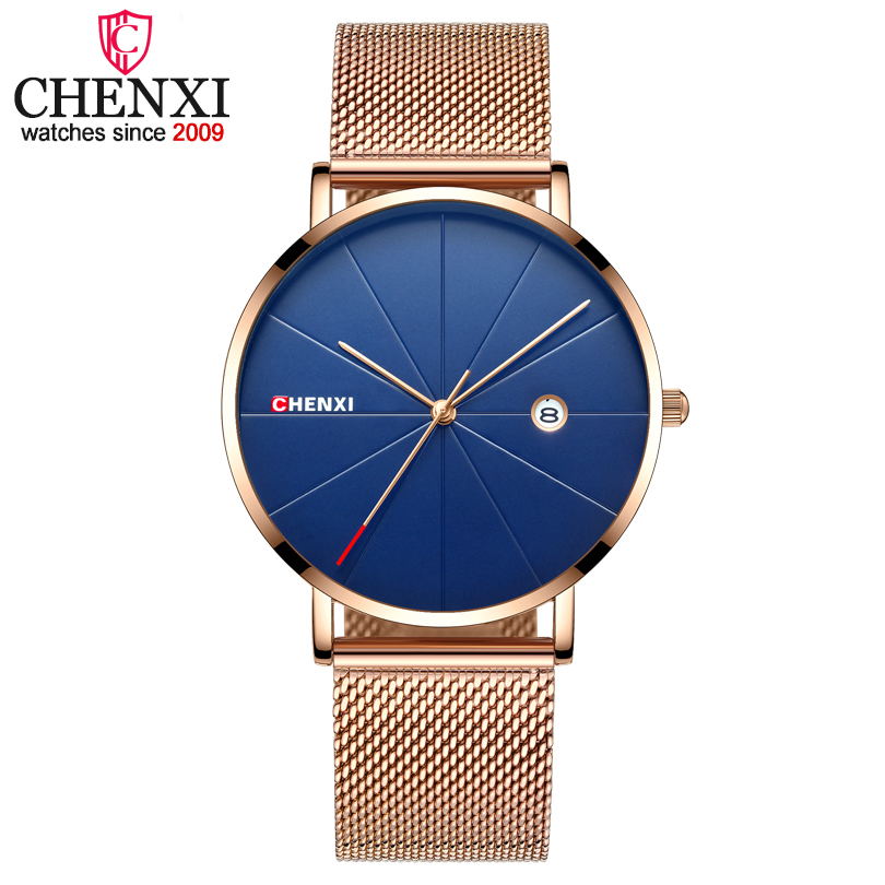 CHENXI Luxury Brand Man Analog Quartz Watches Mens Business Casual Clock Wristwatches Men Golden Watch Relogio Masculino chenxi men quartz wristwatches luxury brand man golden business fashion watch mens shell dial clock dress relogio masculino