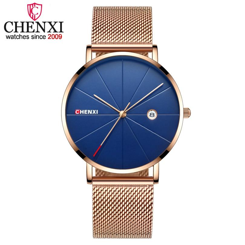 CHENXI Luxury Brand Man Analog Quartz Watches Mens Business Casual Clock Wristwatches Men Golden Watch Relogio Masculino new arrival fashion men watches brand chenxi quartz wristwatches man casual wristwatch hot sale