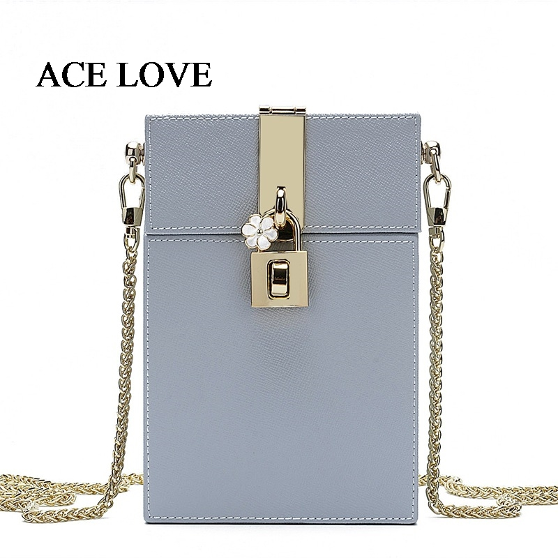 Luxury Bags Women 2017 Womens Shoulder Bags Chain Lock Female Ladies Messenger Bag Real Split Leather Crossbody Bag Small Box fashion matte retro women bags cow split leather bags women shoulder bag chain messenger bags