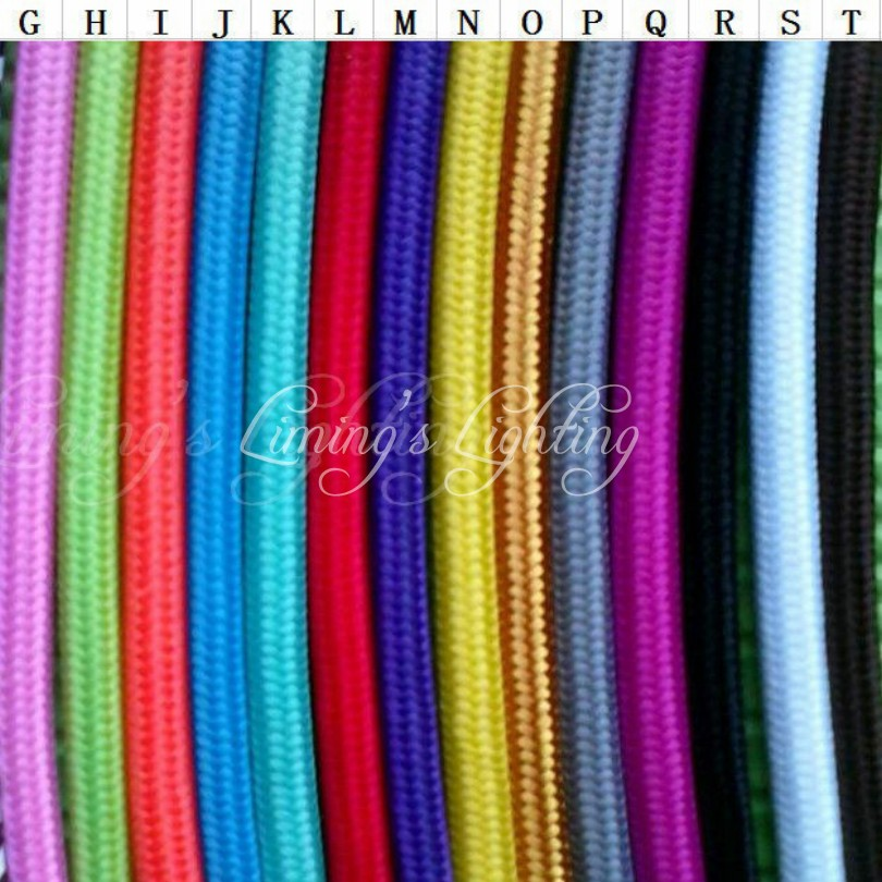 5M Vintage Cable 2*0.75 Textile Fabric Electrical Wire DIY Pendant ...