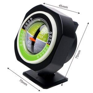 Image 2 - LEEPEE السيارات المنحدر متر مستوى الميل زاوية سيارة البوصلة سيارة الانحدار التدرج عالية الدقة المدمج في LED