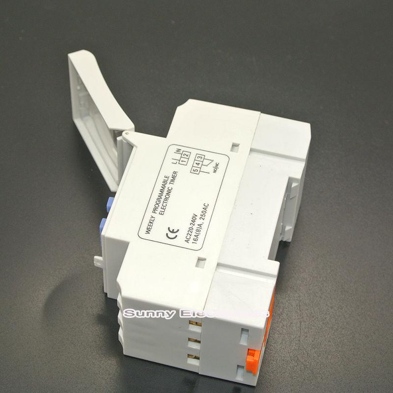 Werkzeuge Timer Din-schiene Digital Programmierbare Timer Schalter 220vac 16a Reinweiß Und LichtdurchläSsig