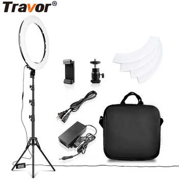 Travor LED Ring Light 18 Inch Ring Lamp Photo light ring With Tripod Phone holder for YouTube makeup Studio photography ringligt - DISCOUNT ITEM  45% OFF All Category