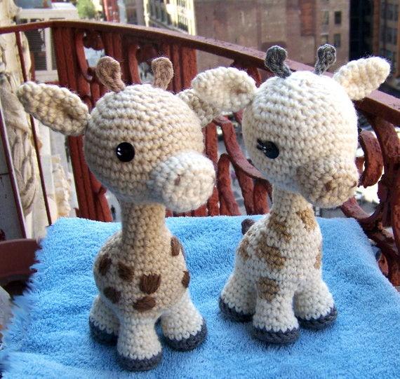 Crochet Baby Giraffe Toy DIY Crochet Toy-Stuffed Toy Animal Doll-Small Giraffe Rattle