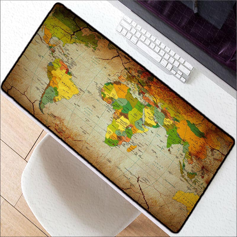 f38e0ad725c Old World Map Large Gaming Mouse Pad Lockedge Mouse Mat Keyboard Pad Desk  Mat Table Mat Gamer Mousepad for Laptop