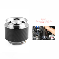 Universal Car Cold Air Filter Intakes Carbon Fiber Black 125mm 155mm 175mm Kit High Flow Catheter Auto Air Filter Accessories