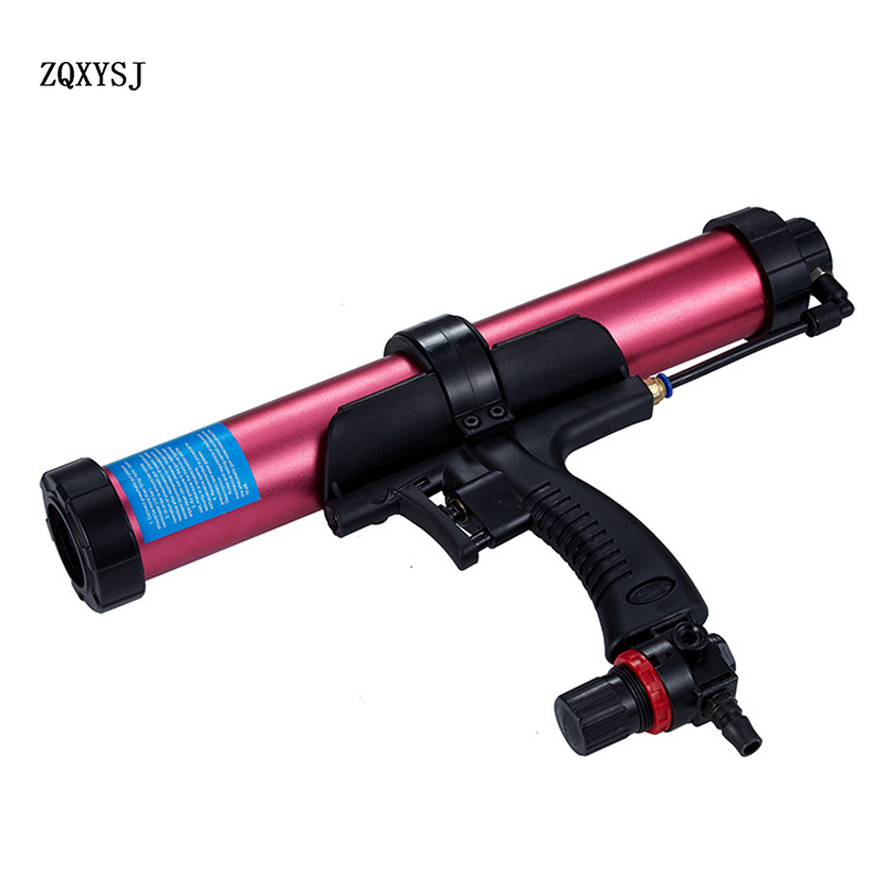 Pneumatic thick aluminum alloy tube adjustable speed glass glue gun caulking agent glue gun