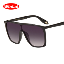 Winla Fashion Design Sunglasses Women And Men Brand Designer Retro Big Frame Siamese Gradient Lens Square Frame Goggle WL1054