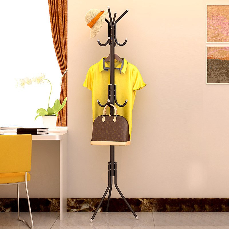 Simple Iron Coat Rack Shelf Handbag Hat Hanger Scarf Holder Stand Clothes Hanging Display Multiple Hook Bedroom tree Drying Rack