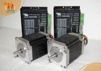 Wantai 2Axis 6Leads Wire Nema23 Stepper Motor 57BYGH420 2A 12.6kg.cm 178oz-in&Driver DQ542MA 50V 4.2A  engraving,cutting machine