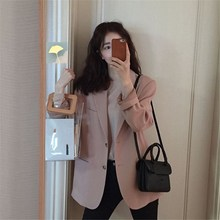 Fashion 2019 Autumn Single Breasted Blazers And Jackets Elegant Office Lady Long Sleeve Pocket Blazers Solid Work Wear Blazer long blazers casual solid double breasted women blazer and jackets feminino work office lady notched flap pocket business blaser