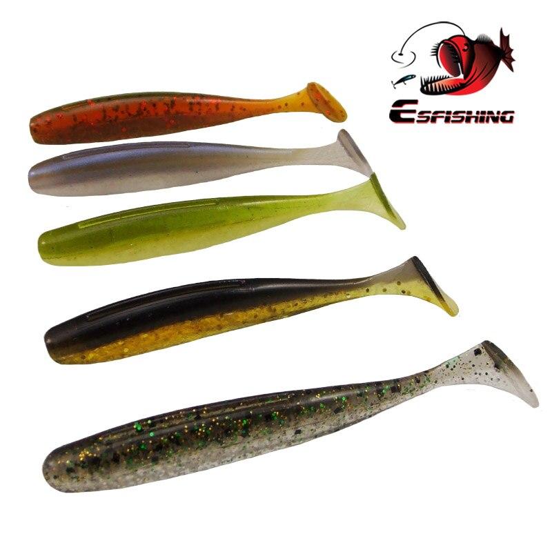 200pcs New Fishing Lure 2018 Soft Esfishing Es Easy Shiner 3 7 6cm 2 6g Winter