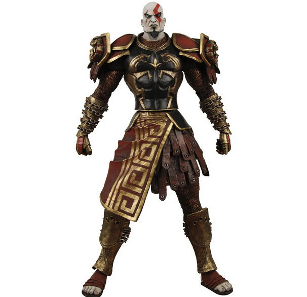 18cm God of War 2 II Weapons Sword Kratos in Ares Armor Action Figures PVC brinquedos Collection Figures toys with Retail box стоимость