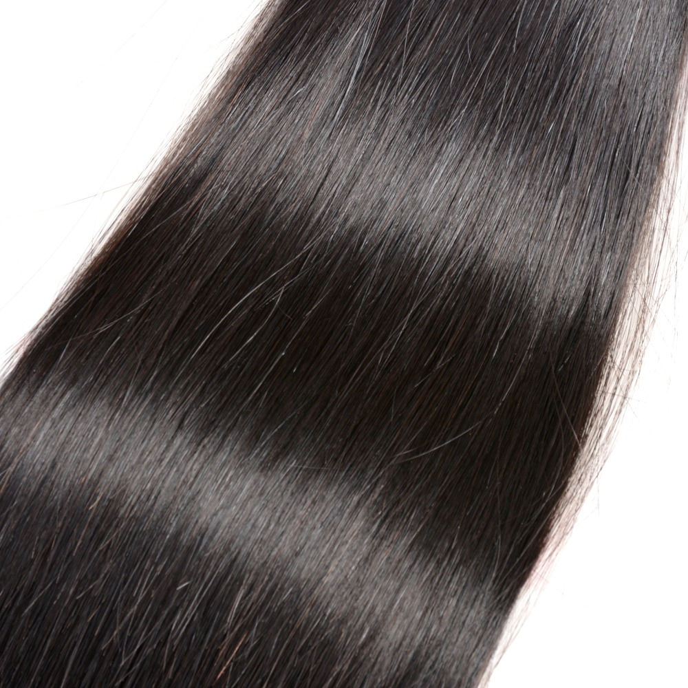 Iwish Hair Straight Human Hair Bundles With Closure Brazilian Hair Free Part Lace Non Remy 3 Pcs Bundles with 4*4 Lace Closure