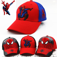 Spiderman Children Cartoon Cotton Cap Kids Boy Girl Hip Hop Hat Cosplay Birthday party supplies gift favors