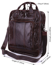New Arrival Vintage Cow Leather Style Coffee Men's Leather Travel Bag Backpacks Big Size # 7168C