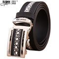 2017new100%cowhide Luxury Men Belts for Men Automatic Alloy Buckle High Grade Top for Male Business Vintage Design Free Shipping