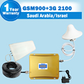 Саудовская Аравия Израиль GSM 900 3 Г WCDMA 2100 Сотовый Сигнал ретранслятор GSM 3 Г UMTS 2100 Dual Band Мобильный Телефон Усилитель Мобильного Booster