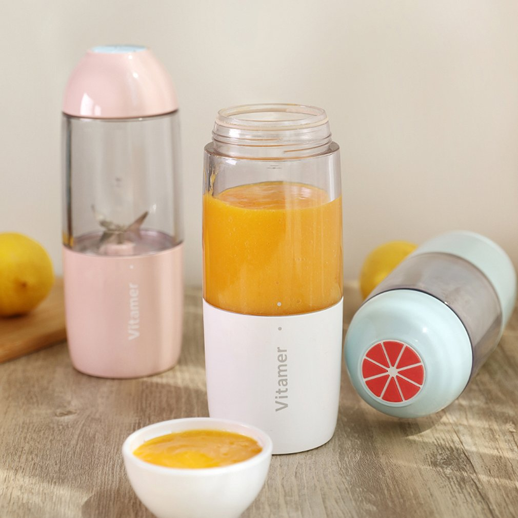 Portable USB Blender Bottle Hand  2-in-1 design Mini juicer Mixer Juice Smoothies Drink Outdoorx Sport&Office&Personal cup