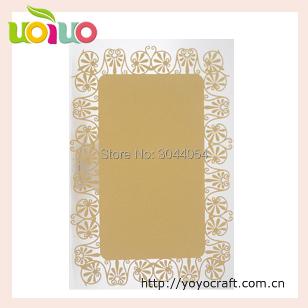 50PCS simple rose laser cut printable table number card, thank you