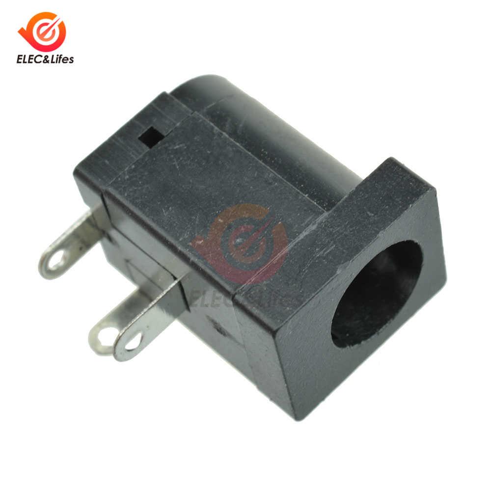 10 sztuk 5.5x2.1mm gniazdo zasilania DC wtyk męski i żeński gniazdo typu jack złącze DC dostaw za baryłkę typu pod kątem prostym do montażu PCB zaciski