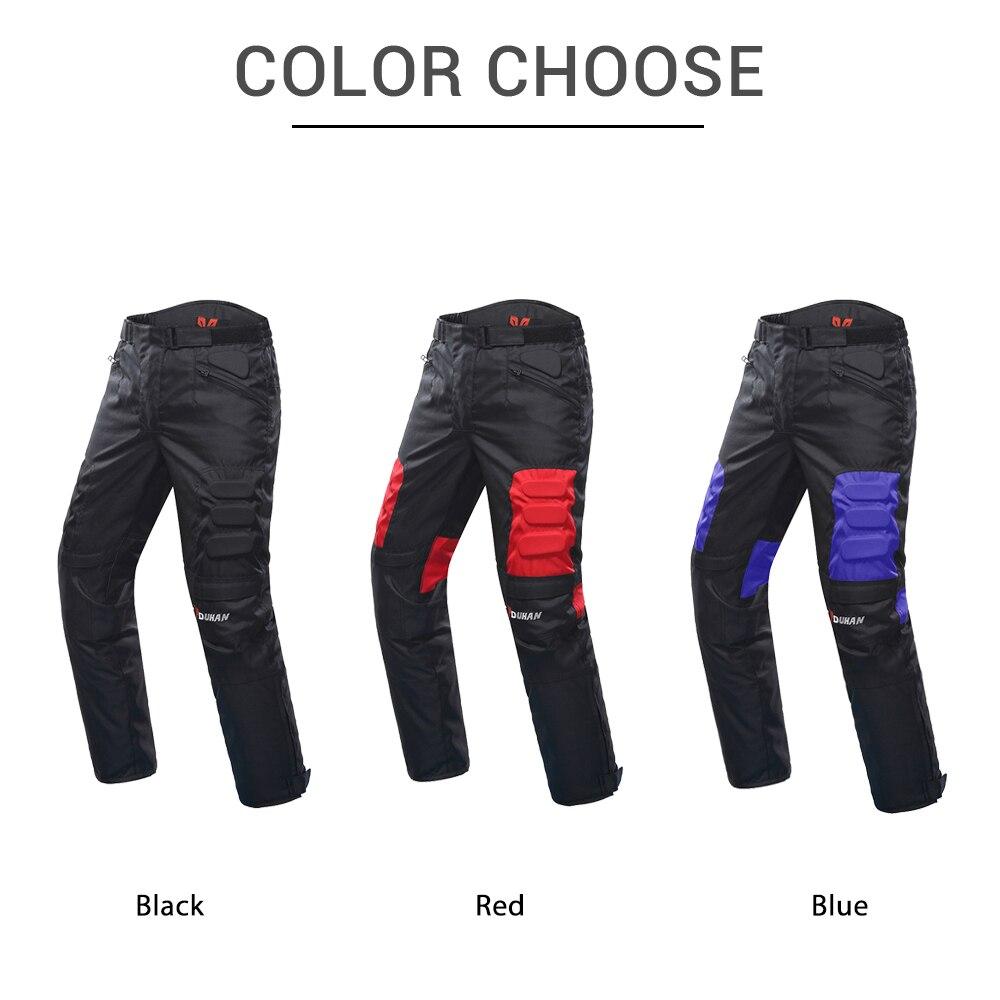 DUHAN Pantalon de Moto Hommes Coupe-Vent équipement de protection Motocross Pantalon Moto Pantalon de cyclisme Pantalon Moto Pantalon Avec Genou - 3