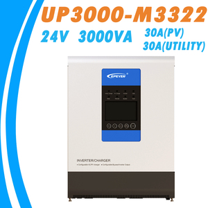 EPever 24V 3000VA Чистая синусоида Инвертор и 30A MPPT зарядное устройство Макс 100V PV вход 220VAC утилита вход 220VAC выход UP3000-M3322