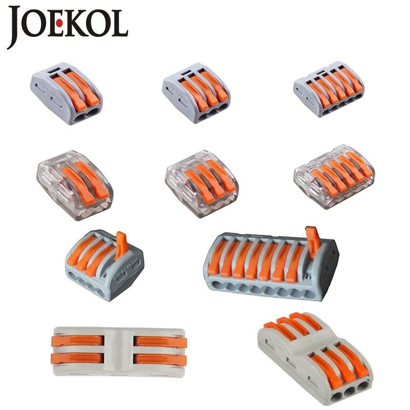 Frete Grátis (30 pçs/lote) fio Conectores WAGO mini rápido, Compacto Universal Conector de Fiação, push-in condutor Terminal Block