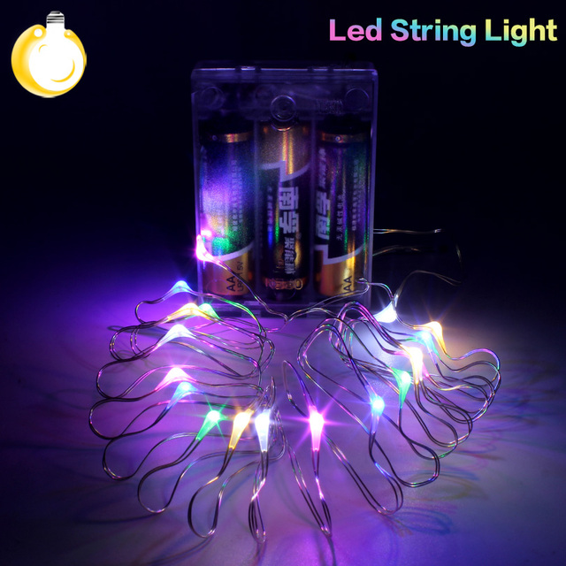 AA Battery Powered LED Copper Wire String light For Fairy Christmas Tree Holiday Party Decoration Night lighting