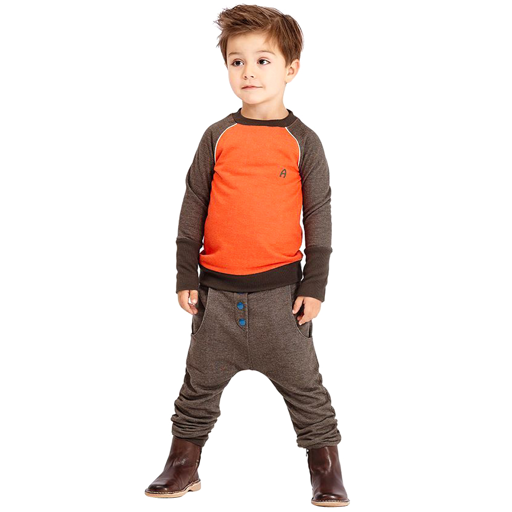 2017 New Fashion Kids Children Boys Clothes Set Mixed Color Long Sleeve O-Neck T-Shirts Tops+Pants Trousers 2Pcs Outfit Set 2-7Y