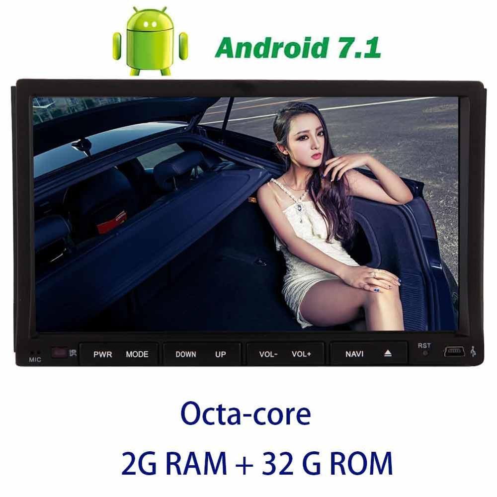 Android 7,1 Восьмиядерный автомобильный Радио стерео 7 ''Авторадио в тире автомобильный аудио gps навигация поддержка OBD2, DAB +, Цифровое ТВ, DVR, камер