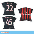 Milan Home Authentic adizero Jersey 2016/17 Soccer Pillow Black Cushion Pillow Fans Souvenir Gifts Kaka Bonaventura Printing
