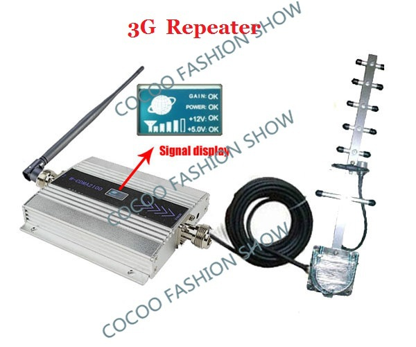 LCD 3G UMTS WCDMA 2100Mhz Booster/Repeater/Amplifier,mobile signal repeater, Cellular Cell Phone Signal booster Repeater AntennaLCD 3G UMTS WCDMA 2100Mhz Booster/Repeater/Amplifier,mobile signal repeater, Cellular Cell Phone Signal booster Repeater Antenna