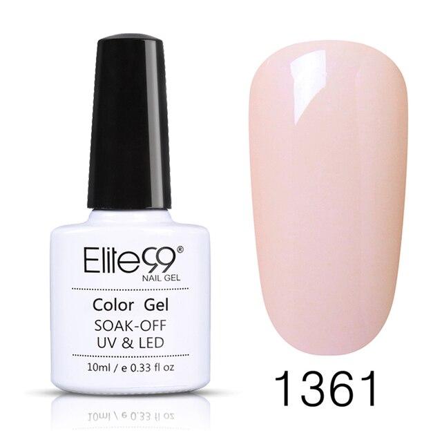 Elite99 10ml Reine Farbe Gel Lack Tränken Weg Vom UV Gel Nagellack Basis Mantel Keine Wischen Top Semi Permanent gel Für Nail art Maniküre