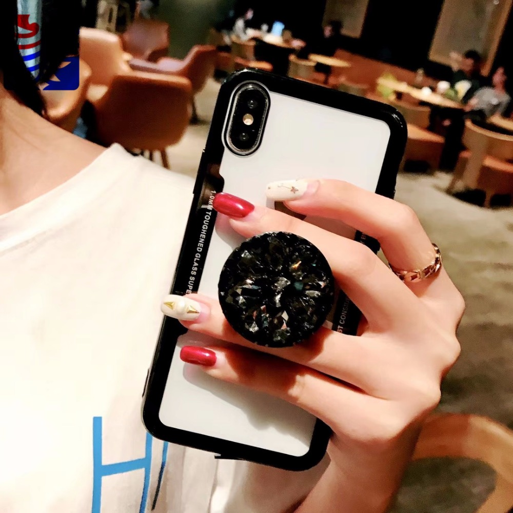 PEIPENG Luxury Transparent diamond phone case Phone Cases Thin and light  For iphone 6 6S 7 8 Plus X Xs Max Christmas gift07_