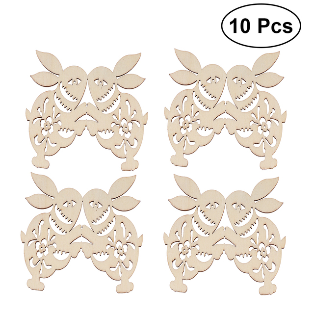 US $2 15 39% OFF|10 PCS Easter Rabbit Unfinished Wood Cutouts Craft Tags  Pendants with String Hanging Ornaments for Easter Party Supplier-in Party  DIY