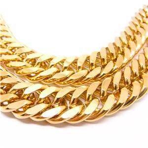Image 2 - 24 K FINE GOLD FINISH N28 kubański podwójny łańcuszek solidny ciężki męski mistrz prezent naszyjnik 23.6 cala 10 MM