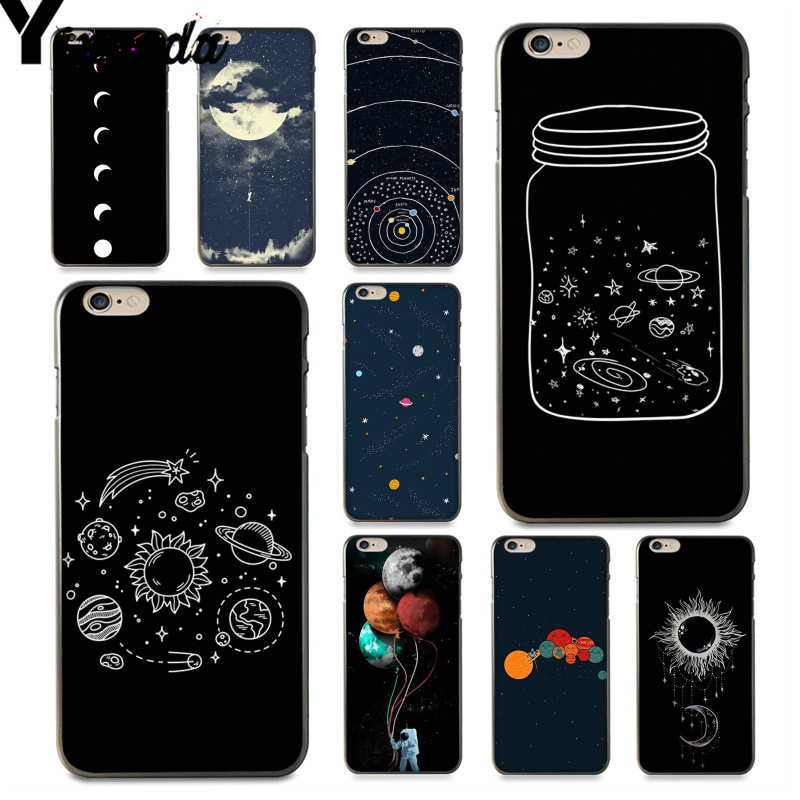 Half-wrapped Case Phone Bags & Cases Yinuoda For Iphone 7 6 X Case Cute Cartoon Wishing Bottle Planet Moon Phone Case For Iphone 7 6 X 8 6s Plus 5 5s Se Xr Xs Xsmax