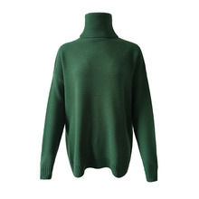 Turtleneck Casual Knitted Twist Warm oversize sweater SA