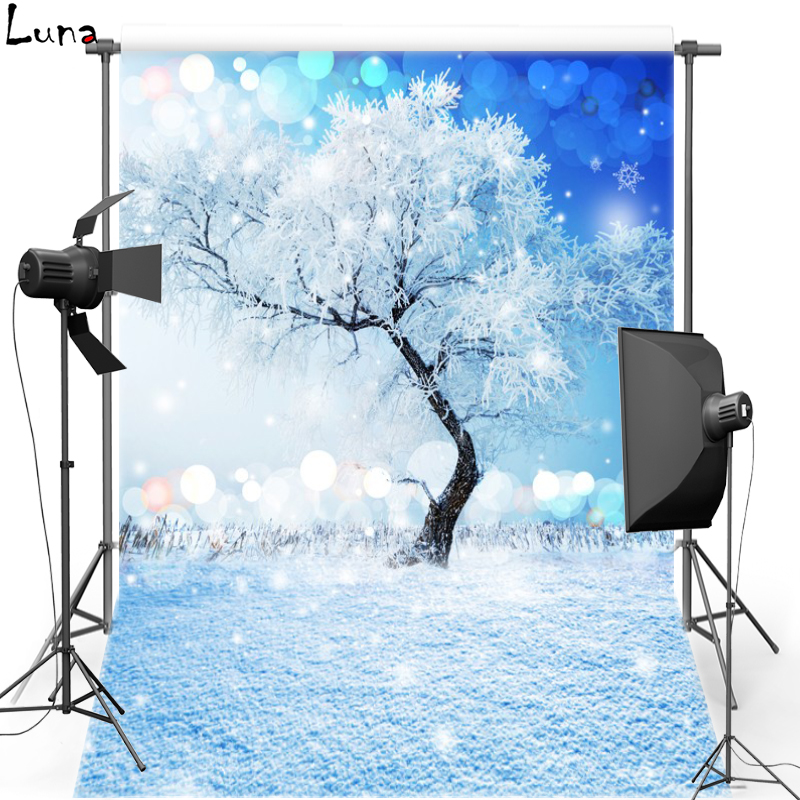 MEHOFOTO Christmas Vinyl Photography Background Snowscape New Fabric Polyester Backdrop For Children photo studio Props 864
