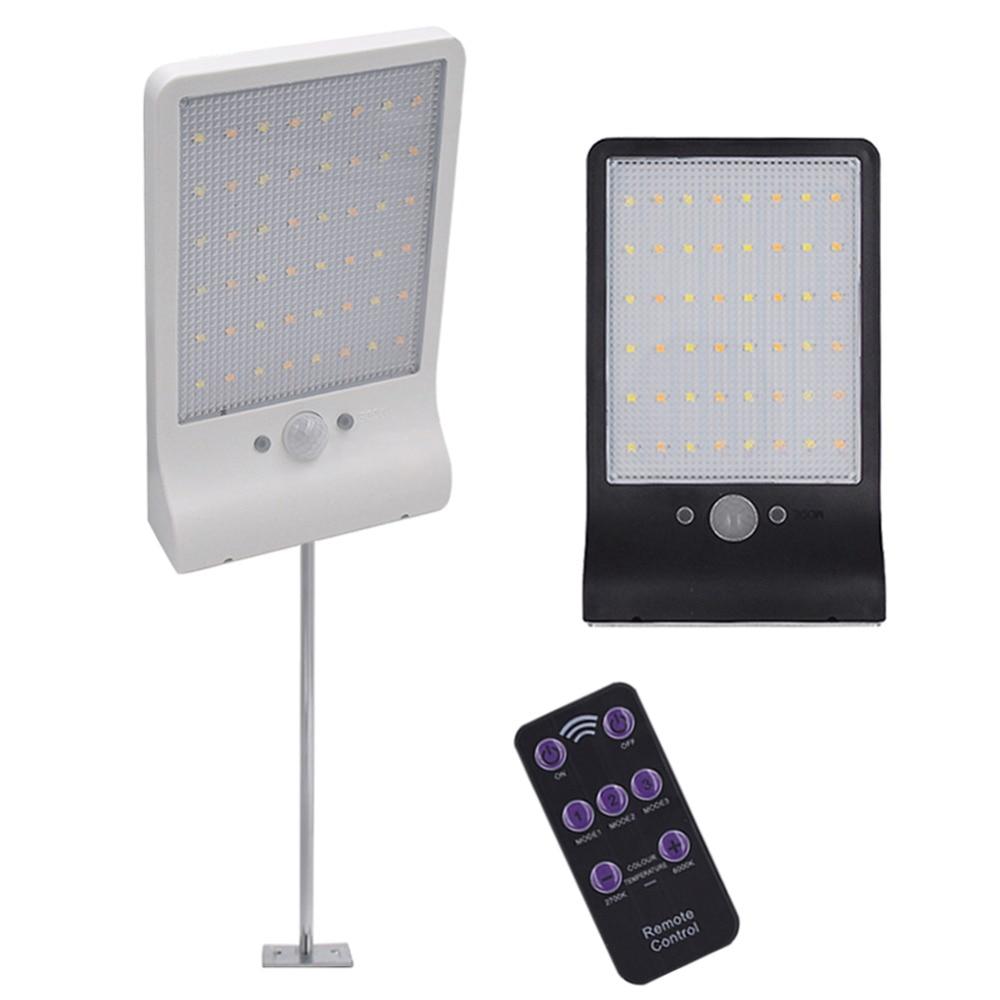 48 LED Solar Lamp Motion Sensor Wandlamp Binnenplaats Tuin Garage Beveiliging Lamp Waterdicht Zonne-straat Licht