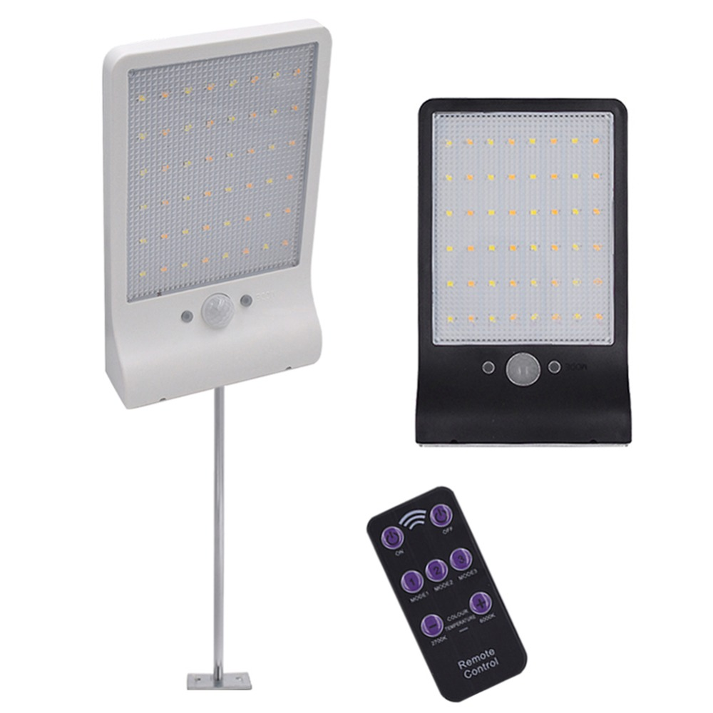 48 LED lámpara Solar Sensor de movimiento de luz de pared al aire libre jardín patio garaje seguridad lámpara de luz de calle Solar
