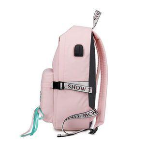 Image 3 - Tourya אופנה אנטי גניבה רעיוני עמיד למים נשים תרמיל USB תשלום לנערות נסיעות מחשב נייד תרמיל Bookbags