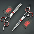 703# 6.0 Inch 17.5cm Japan Kasho Red Screw Cutting Scissor Thinning Shears TOP GRADE Hairdressing Scissors Barbers Hair Scissors