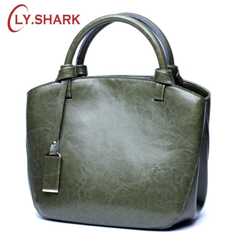 LY SHARK กระเป๋า 2018 กระเป๋าถือหรูผู้หญิงกระเป๋าออกแบบกระเป๋าหนังแท้กระเป๋าหนังผู้หญิงกระเป๋าถือหญิงไหล่ Messenger-ใน กระเป๋าหูหิ้วด้านบน จาก สัมภาระและกระเป๋า บน   1