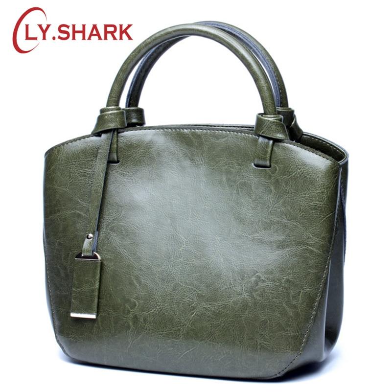 9f27c9f11d98 SHARK Bag 2018 Luxury Handbags Women Bags Designer Brand Genuine Leather  Female Shoulder Messenger